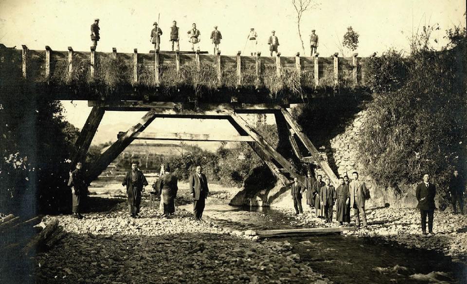 龍之渡井の改修工事